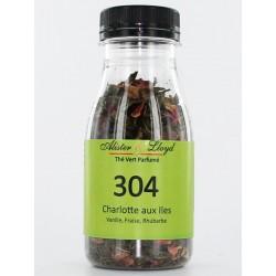 304 - Charlotte aux Iles - Thé Vert Parfumé Vanille, Fraise, Rhubarbe