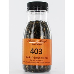 403 - Black n' Green Frutics -Thé Vert & Thé Noir Pêche, Groseille, Mandarine, Orange, Bergamote