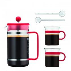 Bistro Set 1L - Cafetière à Piston Bodum - 2 verres assortis