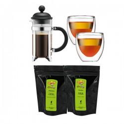 Caffettiera Set BODUM - Cafetière à piston + 2 verres + 2 sachets de café moulu